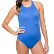 Oakley Core Solids One Piece Swimsuit, Blue, medium
