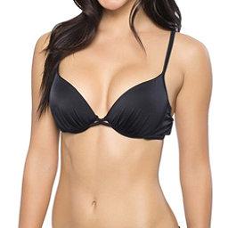 Oakley Core Solids Molded Cup Underwire Bra Bathing Suit Top, Black, 256