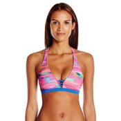 Oakley Mirage Sport Bra Bathing Suit Top, Multi, medium