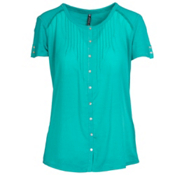 KUHL Geneva Short Sleeve Womens Shirt, Mountain Jade, medium
