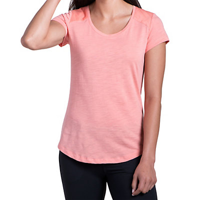 KUHL Khloe Short Sleeve Womens Shirt, Peach, viewer