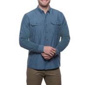 KUHL Airspeed Long Sleeve Mens Shirt, Pirate Blue, medium