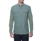 KUHL Airspeed Long Sleeve Mens Shirt, Agave Green, medium