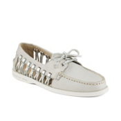 Sperry A/O Haven Leather Womens Shoes, Light Grey, medium
