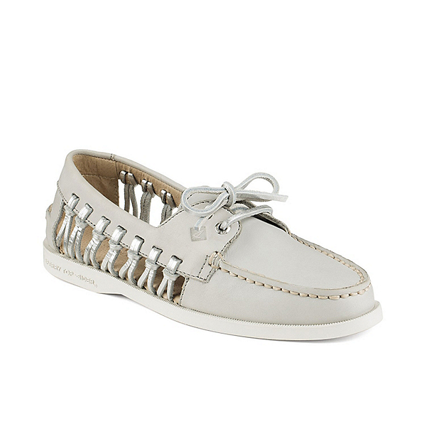 Sperry A/O Haven Leather Womens Shoes, Light Grey, 600