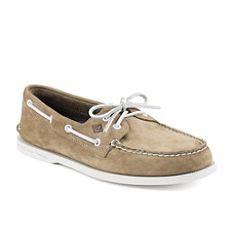 Sperry A/O 2-Eye Washable Nubuck Mens Shoes, Taupe, 256