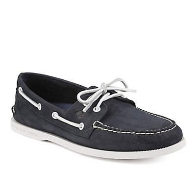 Sperry A/O 2-Eye Washable Nubuck Mens Shoes, Navy, viewer