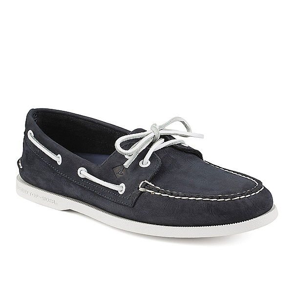 Sperry A/O 2-Eye Washable Nubuck Mens Shoes, Navy, 600