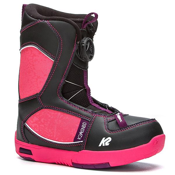 K2 Lil Kat Girls Snowboard Boots 2017, Black, 600