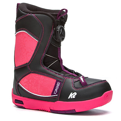 K2 Lil Kat Girls Snowboard Boots 2017, Black, viewer