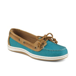 Sperry Firefish Nubby Canvas Womens Shoes, Teal, 256