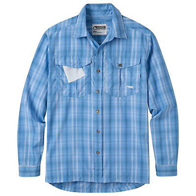 Mountain Khakis Equatorial L/S Mens Shirt, Blue Note, viewer