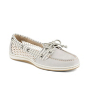 Sperry Firefish Stripe Mesh Womens Shoes, Light Grey, medium