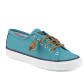 Sperry Seacoast Canvas Womens Shoes, Teal, medium
