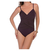 Magicsuit Harper Solid One Piece Swimsuit, Fig, medium