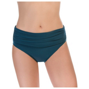 Magicsuit Jersey Shirred Brief Solid Bathing Suit Bottoms, Mallard Green, medium