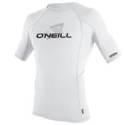 O'Neill Skins S/S Crew Mens Rash Guard, White-White-White, medium