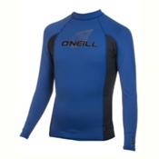 O'Neill Skins Long Sleeve Crew Mens Rash Guard, Deep Sea-Graphite-Deep Sea, medium