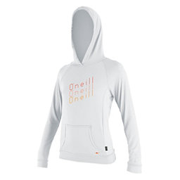O'Neill 24-7 Tech L/S Hoodie Womens Rash Guard, White, 256