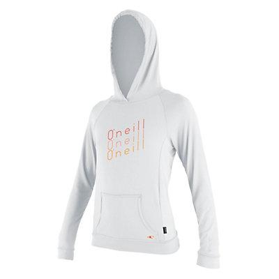 O'Neill 24-7 Tech L/S Hoodie Womens Rash Guard, White, viewer