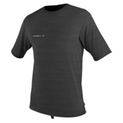 O'Neill Hybrid Short Sleeve Surf Mens Rash Guard, Graphite, medium