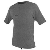 O'Neill Hybrid Short Sleeve Surf Mens Rash Guard, Black Logo, medium