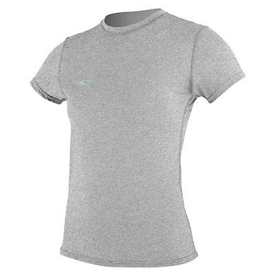 O'Neill 24-7 Hybrid Short Sleeve Tee Womens Rash Guard, Lunar, viewer