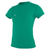 O'Neill 24-7 Hybrid Short Sleeve Tee Womens Rash Guard, , medium