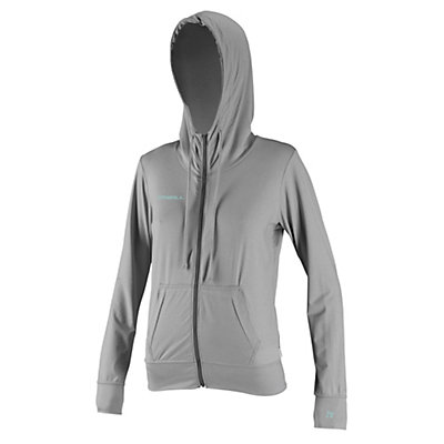 O'Neill 24-7 Hybrid Zip Hoodie Womens Rash Guard, Lunar, viewer