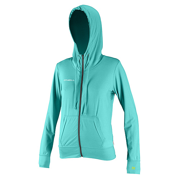 O'Neill 24-7 Hybrid Zip Hoodie Womens Rash Guard, , 600