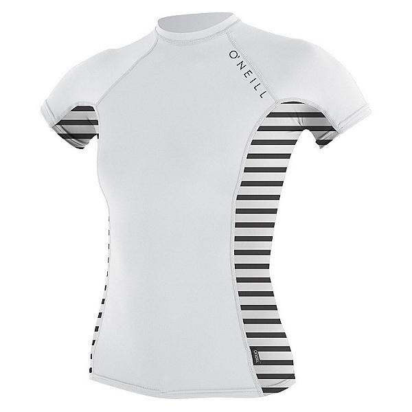 O'Neill Side Print Short Sleeve Crew Womens Rash Guard, , 600