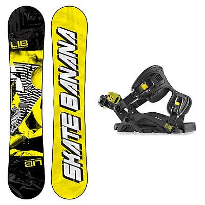 Lib Tech Skate Banana Narrow Fuse FB Snowboard and Binding Package, , viewer