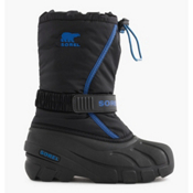 Sorel Youth Flurry Boys Kids Boots, Black-Bright Blue, medium