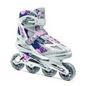 Roces Pop Up Womens Inline Skates, Silver-Pink, medium