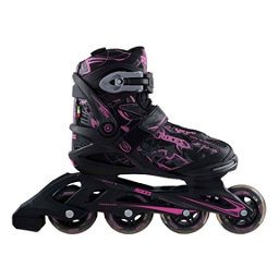 Roces Tattoo Womens Inline Skates, Black-Pink, 256