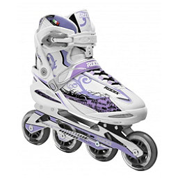 Roces Yris Womens Inline Skates, White-Lavendar, 256