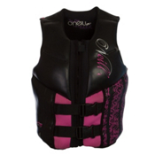 O'Neill Law USCG Womens Life Vest, Black-Petunia, medium