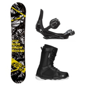 Joyride Chaos Yellow ST-1 Complete Snowboard Package, , medium