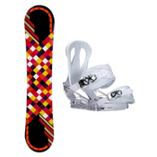 Joyride Checkers Black Citizen Womens Snowboard and Binding Package, , medium