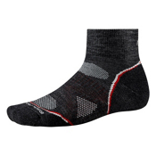 SmartWool PhD Outdoor Light Mini Socks, Charcoal, medium