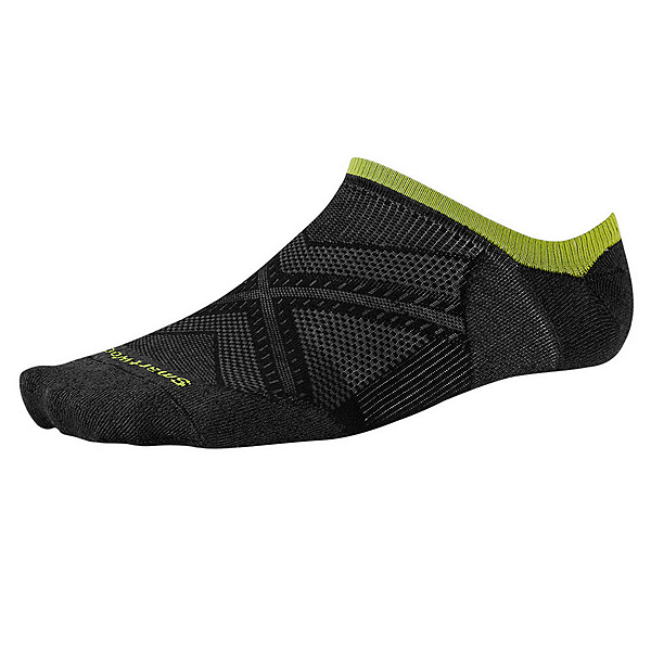 SmartWool PhD Run Ultra Light No Show Socks, Black, 600