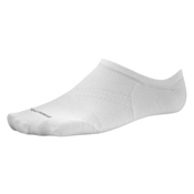 SmartWool PhD Run Ultra Light No Show Socks, White, medium