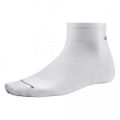 SmartWool PhD Run Ultra Light Mini Socks, White, medium