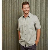 Purnell Short Sleeve Linen Mens Shirt, , medium