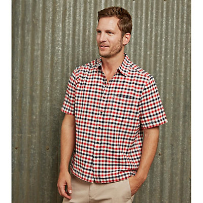 Purnell Short Sleeve Checkered Mens Shirt, , viewer