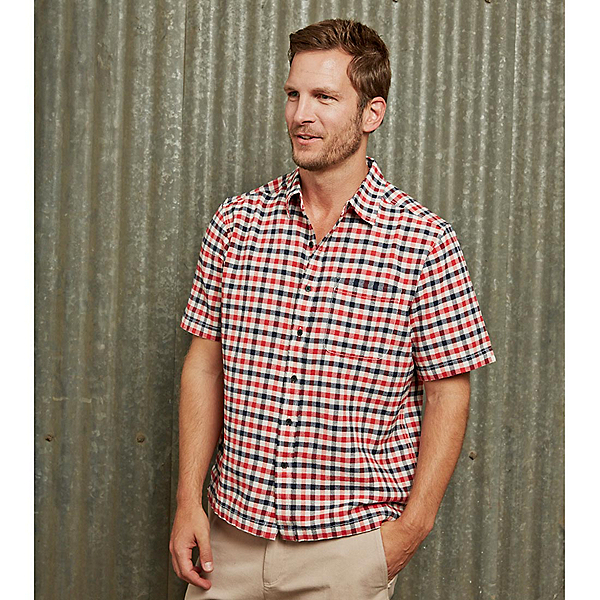 Purnell Short Sleeve Checkered Mens Shirt, , 600