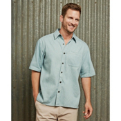 Purnell Short Sleeve Chambray Shirt, , medium