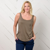 Purnell KArya Bamboo Knit Womens Tank Top, Putty, medium