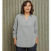 Purnell Double-Sided Striped Tunic Womens Shirt, Navy Stripe, medium