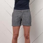 Purnell Womens Chambray Shorts, Black, medium